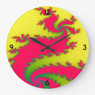 Chinese New Year Dragon Fractal Wall Clock