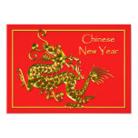 Chinese New Year Dragon Personalized Invites