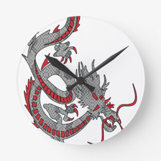 Chinese New Year Dragon Round Clock