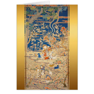 Chinese New Year Goats Chinese Tapestry 1 Card