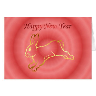 Chinese New Year Happy New Year 2011 rabbit Card