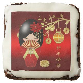 "Chinese New Year Kokeshi Doll 2"" x 2"" Brownies"