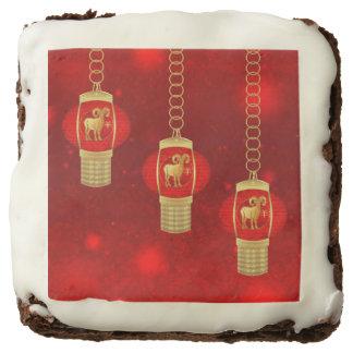 Chinese New Year Lantern Ram Dozen Brownies