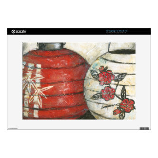 "Chinese New Year Lanterns with Floral Print 15"" Laptop Skin"