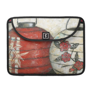 Chinese New Year Lanterns with Floral Print Sleeves For MacBooks