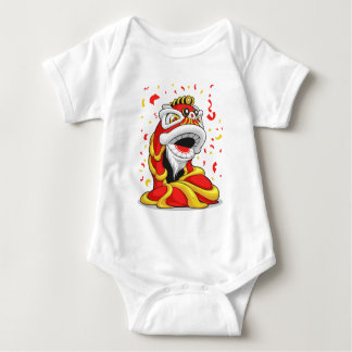 Chinese New Year Lion Baby Bodysuit