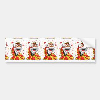 Chinese New Year Lion Bumper Sticker