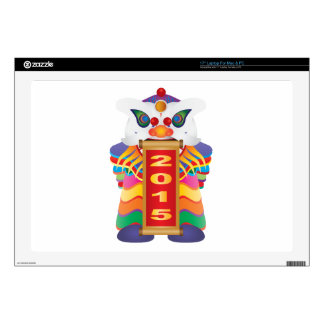 "Chinese New Year Lion Dance with 2015 Scroll 17"" Laptop Decal"