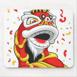 Chinese New Year Lion Mouse Pad