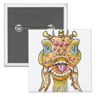Chinese New Year Mask Button