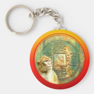Chinese New Year Monkey 2 Monkeys in Coin Keychain