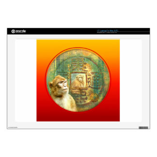 """Chinese New Year Monkey_Monkeys in Coin Skin For 17"""" Laptop"""