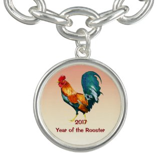 Chinese New Year of Rooster 2017 Charm Bracelet