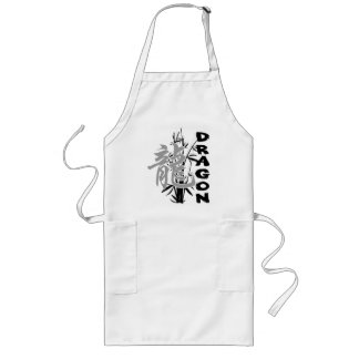 Chinese New Year of The Dragon Long Apron