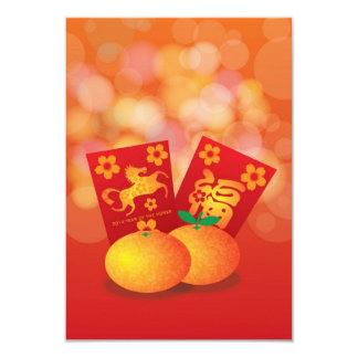Chinese New Year of the Horse Mandarin Oranges Card