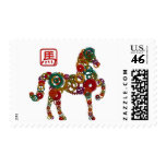 Chinese New Year of the Horse Wood Gears Postage