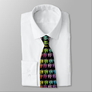 Chinese New Year of the Pig 2019 Pop colors Tie