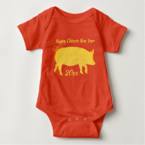 Chinese New Year of the Pig Baby Bodysuit