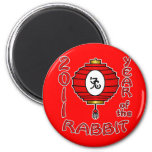 Chinese New Year of the Rabbit Design Refrigerator Magnets