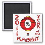 Chinese New Year of the Rabbit Design Fridge Magnets