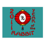 Chinese New Year of the Rabbit Design Postcard
