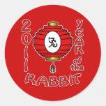Chinese New Year of the Rabbit Design Classic Round Sticker