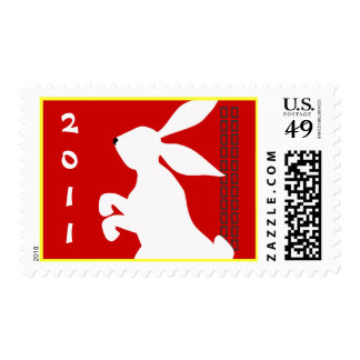Chinese New Year of the Rabbit Red Stamp