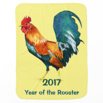 Chinese New Year of the Rooster 2017 Baby Blanket
