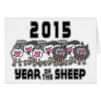 Chinese New Year of The Sheep 2015 Greeting Card