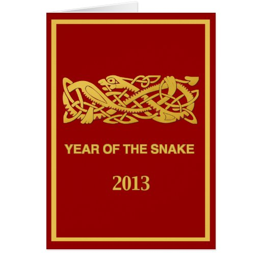 Chinese New Year Of The Snake 2013 Card - En