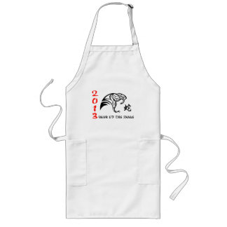 Chinese New Year of The Snake 2013 Long Apron