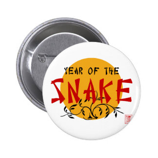 Chinese New Year of The Snake 2 Inch Round Button
