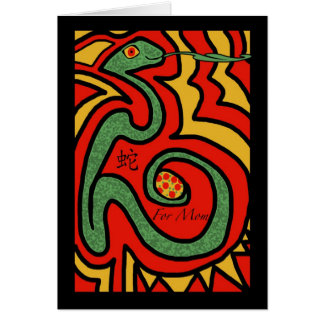 Chinese New Year of the Snake for Mom, Greetings Greeting Card