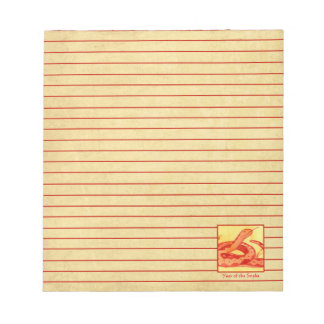 Chinese New Year of the Snake Reptile Red Lined Notepad