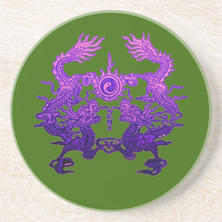 CHINESE NEW YEAR Purple Dragons Drink Coaster