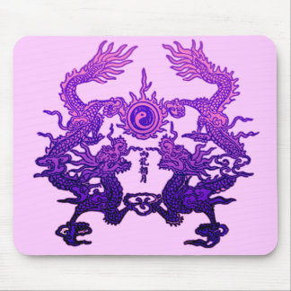CHINESE NEW YEAR Purple Dragons Mouse Pad