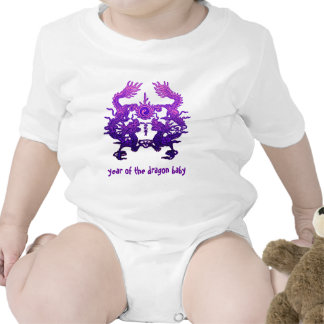 CHINESE NEW YEAR Purple Dragons Rompers
