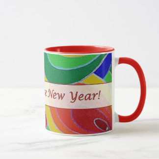 Chinese New Year Rainbow Colors Ringer Mug