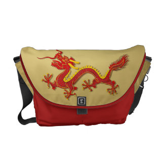 Chinese New Year Red And Gold Dragon Messenger Bag