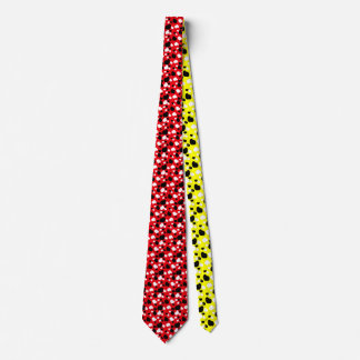 Chinese New Year red and yellow sheep tie