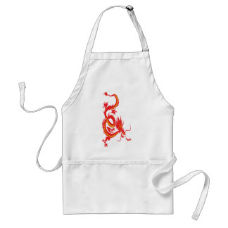Chinese New Year Red Dragon Adult Apron