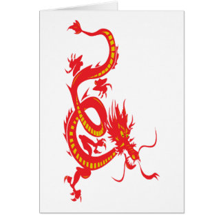 Chinese New Year Red Dragon Card