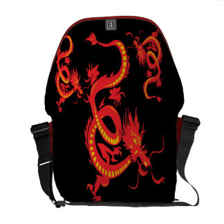 Chinese New Year Red Dragon Messenger Bags