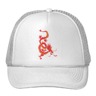 Chinese New Year Red Dragon Trucker Hat