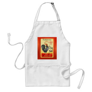 Chinese New Year Rooster French Poster Coq Noir Adult Apron
