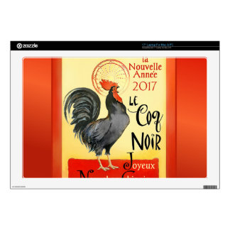 Chinese New Year Rooster French Poster Coq Noir Laptop Decal