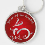 Chinese New year - Silver Year of the Rabbit Keychain