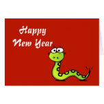 Chinese New Year Vietnamese Tet Year of the snake Greeting Cards