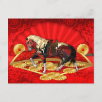 Chinese New Year, Year Of Horse Postcard