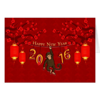 Chinese New Year, Year Of The Monkey With Monkey O Card